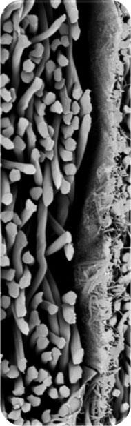 unique filter using a nano-fibre layer
